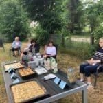 Gäste im Garten
